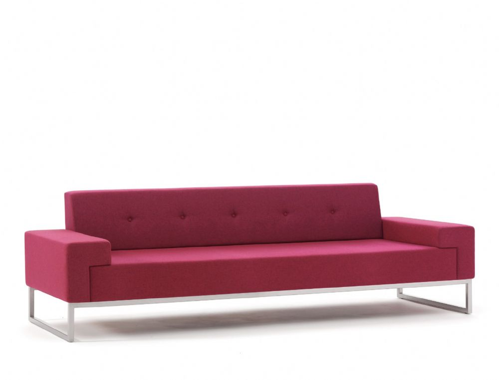 Pledge Hub Upholstered Three Seat Sofa With Steel Underframe